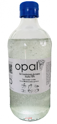 GEL DESINFECTANTE DE MANOS OPAL - 500 ml