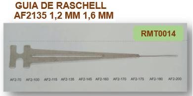 GUIA DE RASCHELL AF2135 1.2mm 1.6mm