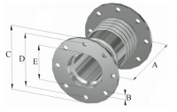 STAINLESS STEEL TWIN BELLOWS WITH ROTATING FLANGES